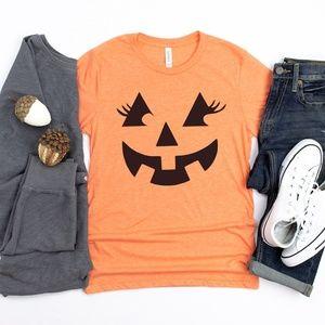 Pumpkin Face T Shirt-Halloween Shirt